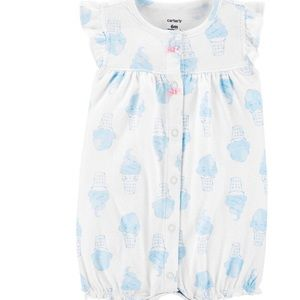Carter's Baby Girls Printed Chambray Romper